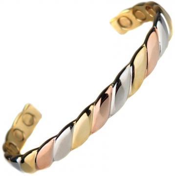 Bracelet magnétique cuivre ALVINE - 6 aimants