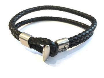 Bracelet celte cuir et acier