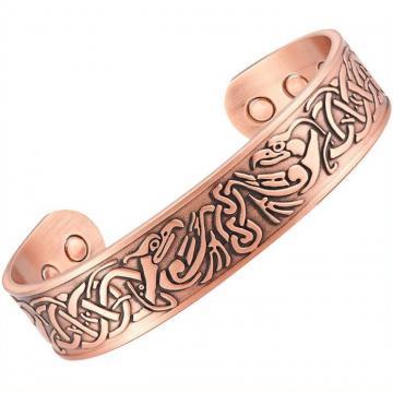 Bracelet magnétique cuivre CURRY - 6 aimants - IRIS