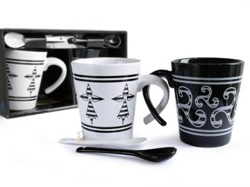 Duo Mugs Hermine/ Triskell + cuillères