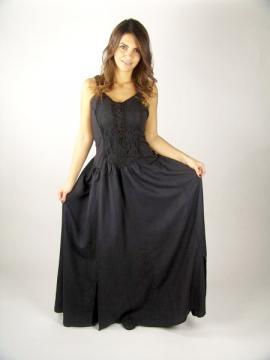 Robe type corselet en rayon noire