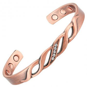 Bracelet magnétique cuivre PETUNIA - 6 aimants