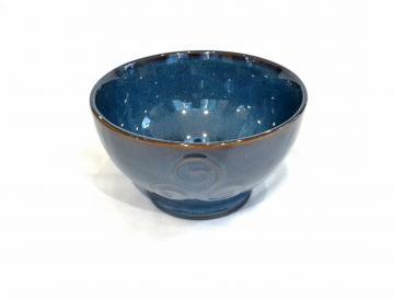 bol breton triskell bleu grès véritable 14x 8cm