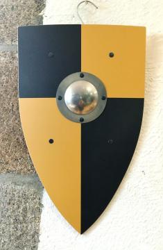 Bouclier normand noir/jaune 30 x 50 cm