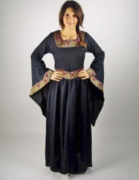 Robe médiévale viscose noire