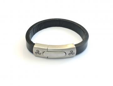 Bracelet cuir triskell
