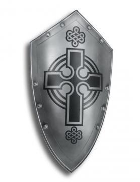 Bouclier métal croix celtique